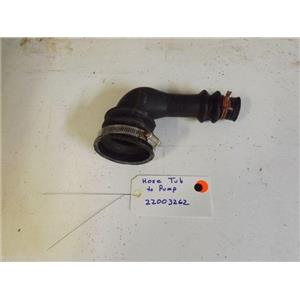 MAYTAG WASHER  22003262  Hose, Tub To Pump  used part