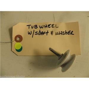 MAYTAG DISHWASHER 99002947 99002622 TUB WHEEL W/ SHAFT & WASHER USED PART