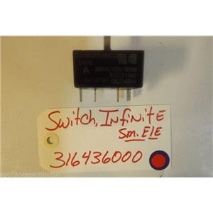FRIGIDAIRE STOVE 316436000 Switch,infinite ,small Element USED PART