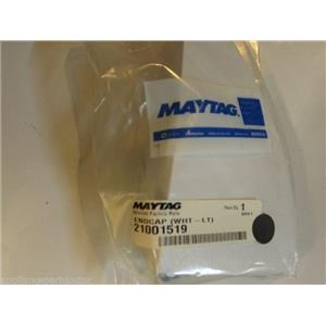 Maytag Washer 21001519  Endcap (wht-lt) NEW IN BOX