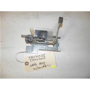 WESTINGHOUSE FRIGIDAIRE DISHWASHER 5303943128 5303271018 LATCH W/ SWITCH USED