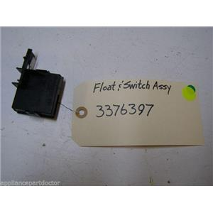 WHIRLPOOL DISHWASHER 3376397 FLOAT & WASHER USED PART ASSEMBLY