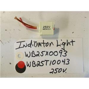 KENMORE STOVE WB25X0093  WB25T10040 Light indicator  used part