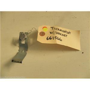 KITCHEN AID DISHWASHER 661566 THERMOSTAT W/ BRACKET USED PART ASSEMBLY