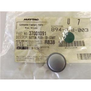 Maytag Dryer  37001091  Button, Push-to-start (slvr)  NEW IN BOX