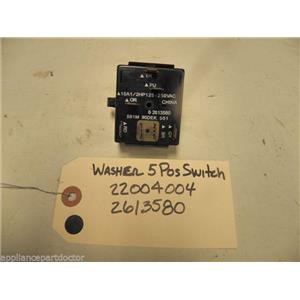 MAYTAG WASHER 22004004 2613580 5 POSITION SPEED SWITCH USED PART ASSEMBLY