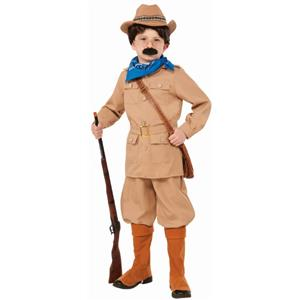 Theodore Teddy Roosevelt Boy's Costume Size Small 4-6