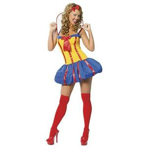 3 Piece Sexy Snow White Princess Adult Costume M/L