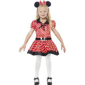 Cute Mouse Girls Costume Dress Minnie Small 4-6