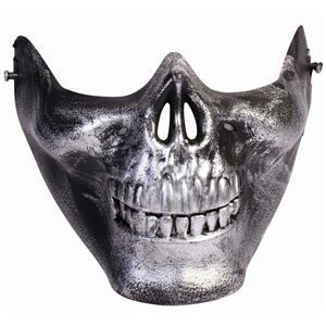 Silver Skull Lower Face Skull Venetian Half Mask