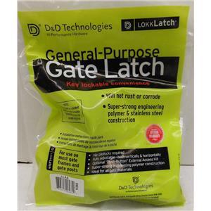D&D TECHNOLOGIES LLAA LOKK-LATCH, SERIES 2, MK2 W/ LEG GATE, PEDESTRIAN LATCH