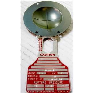 """Continental 440117 Rupture Disc 2"""" CDCV 316-TEF-316 465 PSIG @ 72° F 179936"""