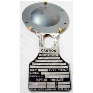 """BS&B  Rupture Disc 1-1/2"""" TEF 250 PSIG @ 72° F 42030482-1 500-7010-15.10"""