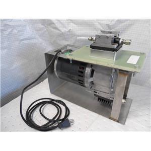 Air Dimensions Dia-Vac Dual Head Vacuum Pump Model R0521500-100 W/ Custom Stand
