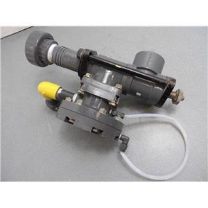 """Wallace & Tiernan PVC Adjustable Throat Chlorine Injector 2"""" Assembly Used #1"""