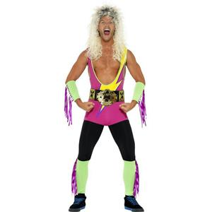 Smiffy's Men's 80's Retro Wrestler Adult Costume Size XL