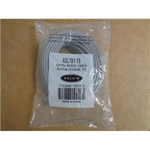 Belkin A3L791-75 Patch Cable - Rj-45 [m] 75 Ft [ Cat 5e ] Gray