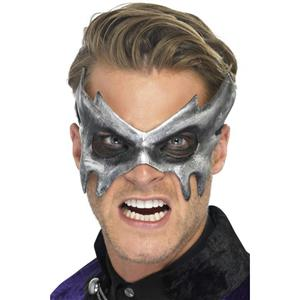 Smiffy's Men's Gray Phantom Masquerade Eye Mask