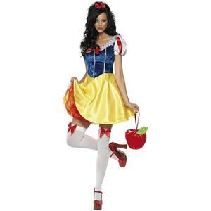 Smiffy's Fever Women's Fairytale Snow White Sexy Adult Costume Size Medium 10-12