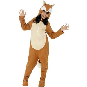 Fox Child Costume with Hood Size Large