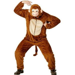 Smiffy's Monkey Adult Costume with Hood Size Medium