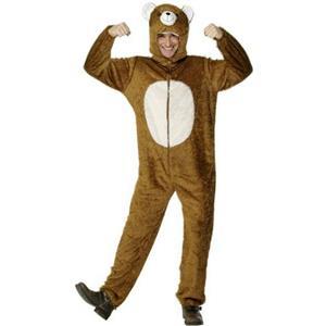 Smiffy's Bear Adult Costume with Hood Size Medium