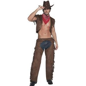 Smiffy's Men's Fever Ride Em High Sexy Male Cowboy Adult Costume Size Medium
