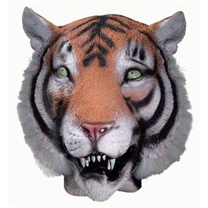 Deluxe Latex Tiger Animal Cat Adult Mask