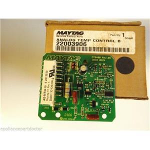 Maytag Washer  22003906  Analog Temp Control Board  NEW IN BOX