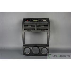 2005-2008 Kia Sportage Radio Climate Control Bezel with Hazard Switch and Clock