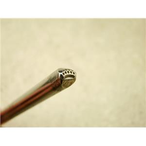 """Indian """"Ridged Circles"""" Symbol 3/16""""-5mm-Stamp-Metal-Hardened -Gold&Silver Bars"""