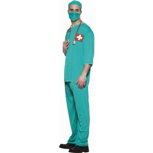 Doctor Surgeon Adult Standard Dr Costume Scrub ER Size Medium