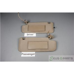 2009-2014 Chevrolet Malibu Sun Visor Set with Covered Lighted Mirrors