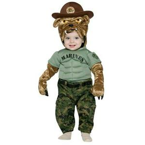 Military Mascot Marine Chesty Toddler Costume 2-4T