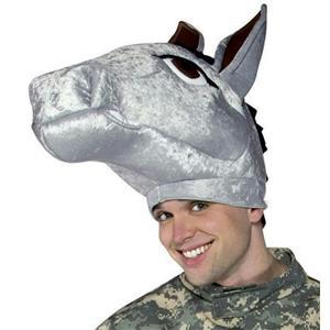 Mule Hat Democrat Donkey Head Piece Military Mascot Adult Army