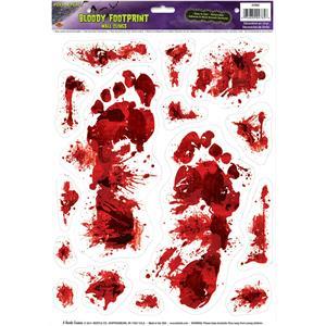 Bloody Footprints Peel 'N Place Halloween Decoration
