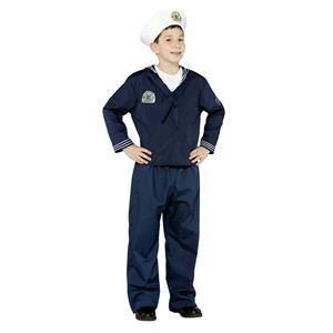 Navy Uniform Military Soldier Sailor Child Costume Med 7-10