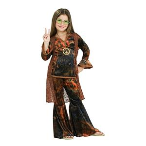Feeling Groovy Child's Brown Woodstock Diva Costume Size Small 4-6