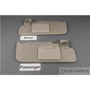 2011 2012 2013 2014 Ford Edge Sun Visor Set Pair Covered Mirrors and Adjust Bars