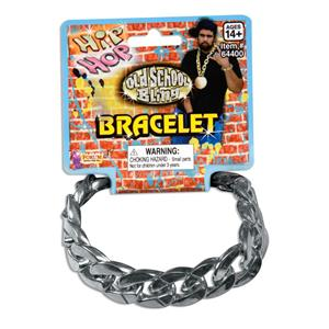 80's Big Links Silver Bracelet Pimp Gangster Hip Hop