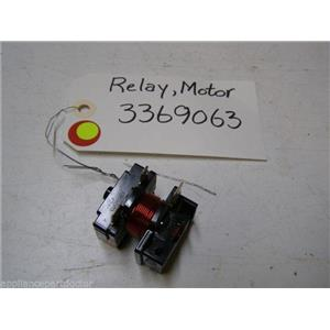 WHIRLPOOL DISHWASHER 3369063 RELAY USED PART ASSEMBLY