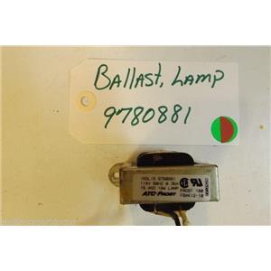 KITCHENAID STOVE 9780881 Ballast, Lamp  USED PART