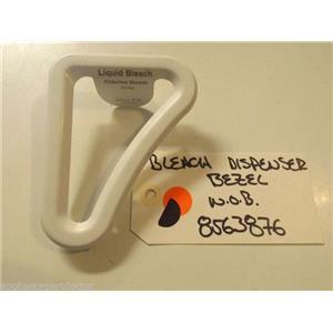 WHIRLPOOL/MAYTAG/KENMORE WASHER   8563876 Bezel, Bleach Dispenser