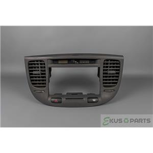 2006-2010 Kia Rio Radio Dash Trim Bezel with Vents, Hazard Switch, and Clock