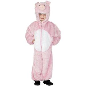 Pink Pig Child Costume with Hood Child Size Small
