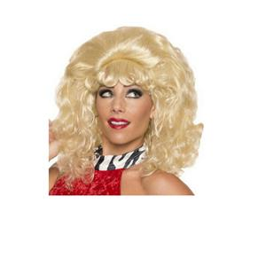 Women's Blonde Big Curly Ginger Snaps Wig