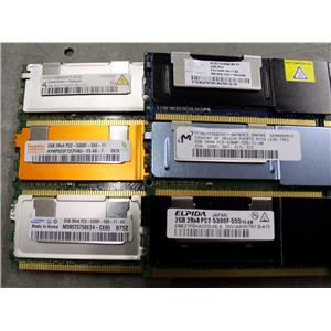2GB PC2-5300F SERVER MEMORY DIMM for Dell PowerEdge & HP ProLiant G5 - lot of