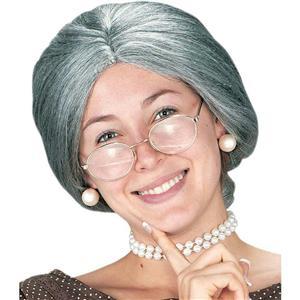 FunWorld Granny Old Lady Wig with Bun