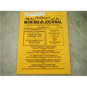 California Mining Journal September 1980 - Sagebrush Rebellion Bill Becomes Law