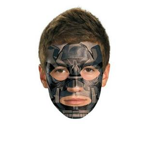 Transformers: Iron Hide Face Temporary Tattoo Makeup No Mask